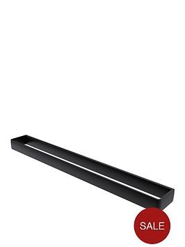 aqualux-haceka-aline-60-cm-towel-rail-ndash-black