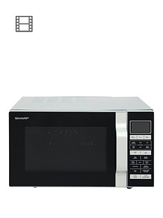 sharp-r860slm-25-litrenbsp900w-flat-tray-combi-microwave-silver