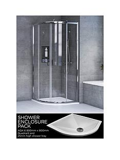 aqualux-aqx-6-quadrant-shower-enclosure-and-aqua-25-tray-bundle-kit