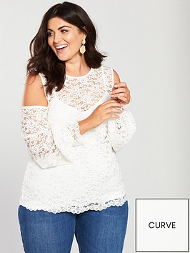 v-by-very-curve-lace-cold-shoulder-top