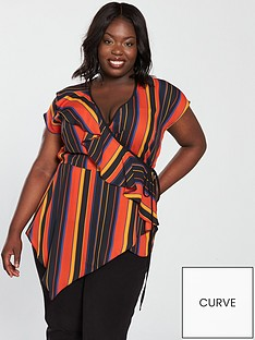 v-by-very-curve-ruffle-wrap-stripe-blouse
