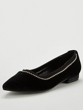 v-by-very-melissa-stud-trim-velvet-point-ballerina-shoe-black