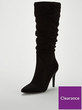 v-by-very-sahara-ruched-point-calf-boot-black