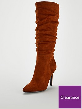 v-by-very-sahara-ruched-point-calf-boot-tan