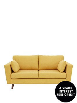 ideal-home-porter-fabric-3-seater-sofa-mustard