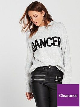 v-by-very-sparkle-slogan-jumper-grey-marl