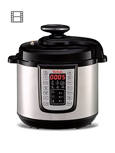 tefal-all-in-onenbspcy505-pressure-cooker-6l-black-andnbspstainless-steel