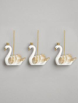gisela-graham-whitegold-swan-christmas-tree-decorations-3-pack