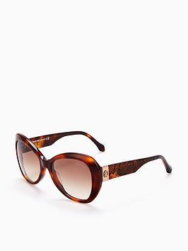 Roberto Cavalli Roberto Cavalli Dark Havanna Oval Sunglasses ... bcfa554789
