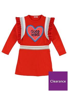 de9f03b6d2c Billieblush Girls Sequin Ruffle Good Vibes Dress