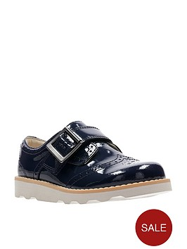 clarks-crown-pride-infant-shoe-navy-patent