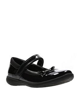Clarks Clarks Venture Star Patent Junior Shoes - Black Picture