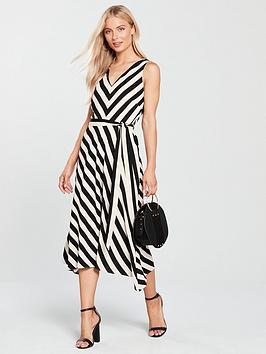wallis-stripe-hanky-hem-dress