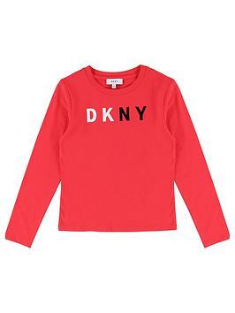 dkny-girls-long-sleeve-logo-t-shirt