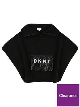 dkny-girls-logo-pocket-knitted-poncho