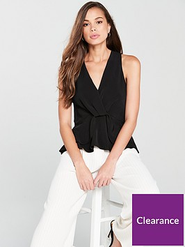 river-island-twist-front-top-black
