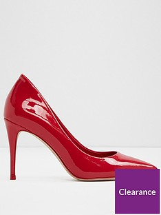 f4f5fd9ae575 Aldo Traycey Mid Heel Pointy Toe Court Shoe - Red