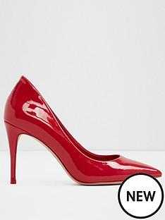 aldo-traycey-mid-heel-pointy-toe-court-shoe-red