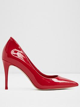 aldo-traycey-mid-heel-pointy-toe-court-shoe-red