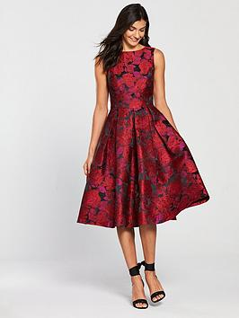 v-by-very-jacquard-prom-dress-red