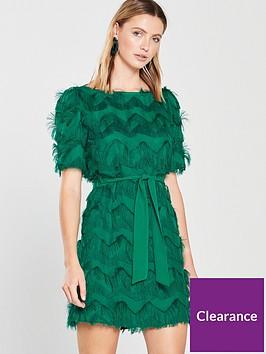 v-by-very-zigzag-fringe-shift-dress-green