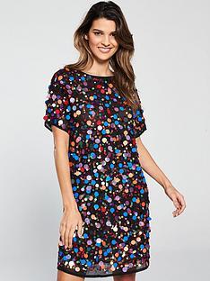 v-by-very-disc-embellished-shift-dress-multi
