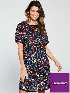 v-by-very-disc-embellished-shift-dress-multi