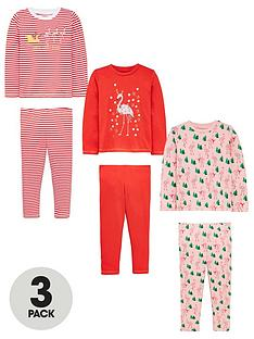mini-v-by-very-girls-flamingo-christmas-3-pack-pyjamas