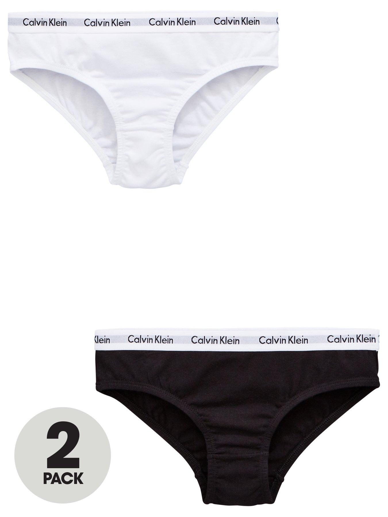 Just Essentials Girls Back to School 5 Pack Cotton Plain White Briefs