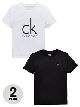 Calvin Klein Calvin Klein Boys 2 Pack Short Sleeve Logo T-Shirts -  ... Picture