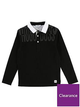 boss-boys-long-sleeve-mesh-side-print-polo-shirt-black