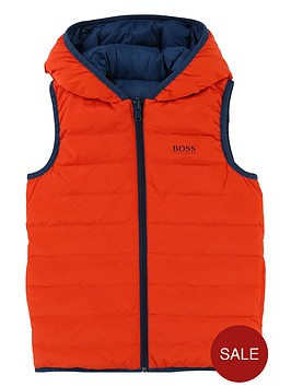 boss-boys-reversible-padded-giletnbsp--orangeblue
