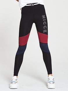 nicce-logo-panelled-leggings-multi