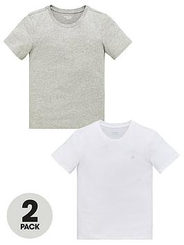 Calvin Klein Calvin Klein Boys 2 Pack Short Sleeve T-Shirt - White/Grey Picture