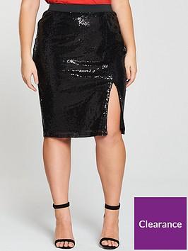 v-by-very-curve-sequin-skirt-blacknbsp