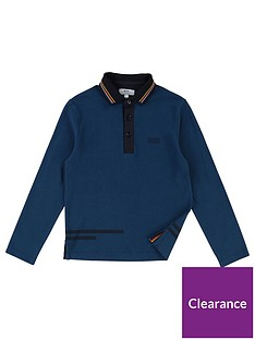 boss-boys-long-sleeve-pique-stripe-collar-polo-shirt-navy