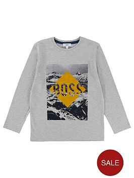 boss-boys-long-sleeve-flock-print-t-shirt-light-grey-marl