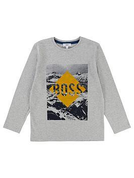 boss-boys-long-sleeve-flock-print-t-shirt