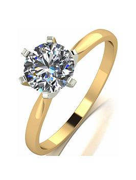 Moissanite Moissanite 18 Carat Yellow Gold 1 Carat Solitaire Ring Picture