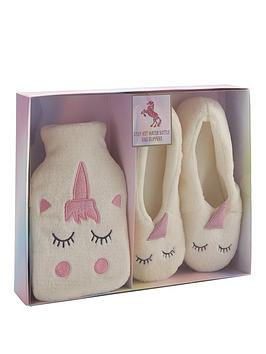 unicorn-hot-water-bottle-and-slippers-set