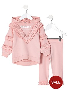 river-island-mini-girls-pink-sparkle-sweatshirt-outfit