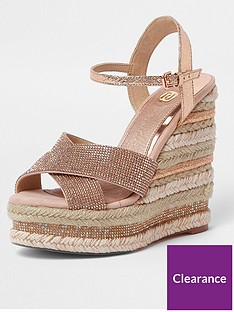 river-island-embellished-wedge-pink