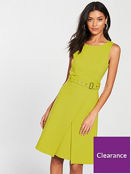 karen-millen-colour-pop-dress-lime