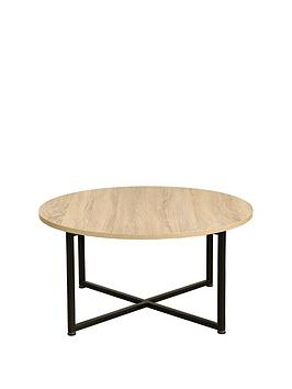 Very Telford Industrial Round Coffee Table Picture