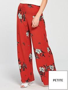 miss-selfridge-petite-wide-leg-trouser-printed