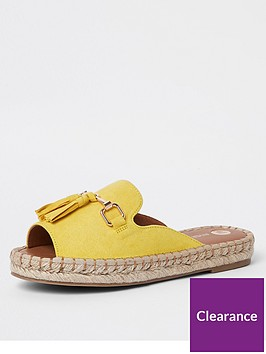 river-island-river-island-espadrille-mule-sandal-yellow
