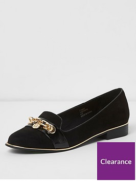river-island-river-island-buckle-front-loafers-black