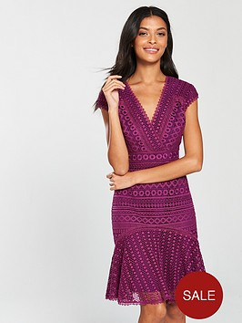 karen-millen-geometricnbspchemical-lace-dress-dark-pink