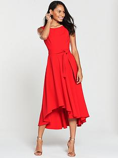 karen-millen-colourful-fluid-midi-dress-red
