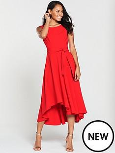 karen-millen-colourful-fluid-midi-dress-red